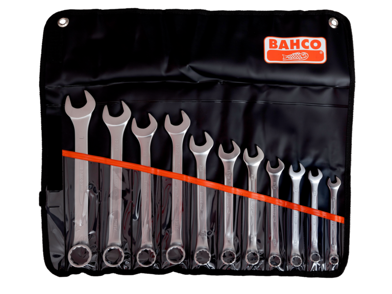 Bahco Spanner Kit 11 Piece Combination Ring and Open End Imperial 111Z/11T