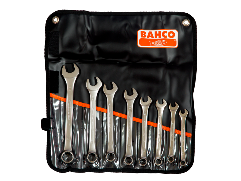 Bahco Spanner Kit 8 Piece Combination Ring and Open End Imperial 111Z/8T