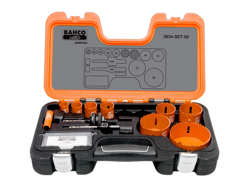 Bahco Holesaw Set 11 Piece 3834-SET-92