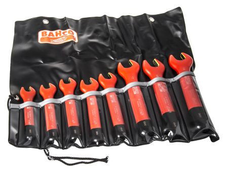 Bahco Spanner Kit Insulated Open End 8 Piece Metric 6MV/8T