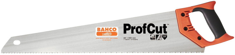 "Bahco ProfCut 22"" 550mm Universal 7/8 Tooth Fileable Handsaw"