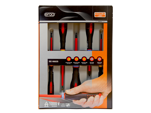 Bahco Screwdriver Set 5 Piece Insulated BE-9882S