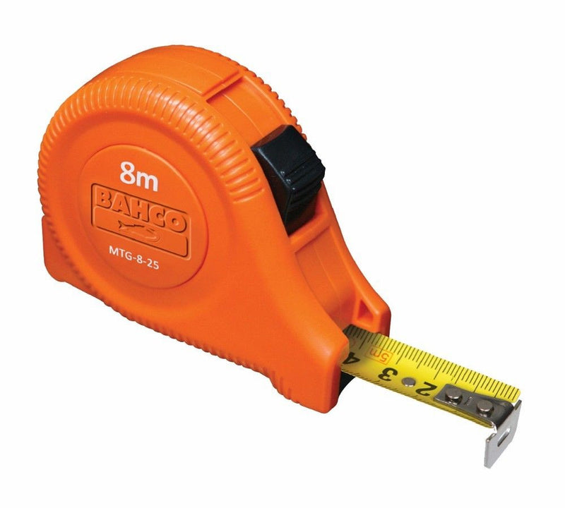 Bahco Measuring Tape 25mm Blade 8m Long MTG-8-25