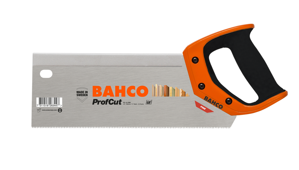 "Bahco ProfCut 12"" 300mm Universal 11/12 Tooth, Tenon Handsaw"