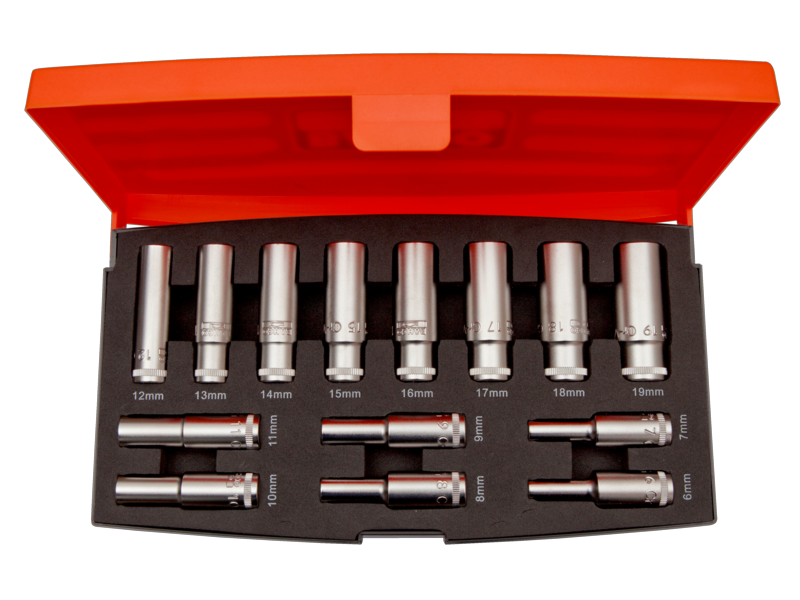 "Bahco Socket Set Deep Drive 3/8"" 14 Piece S1214L"