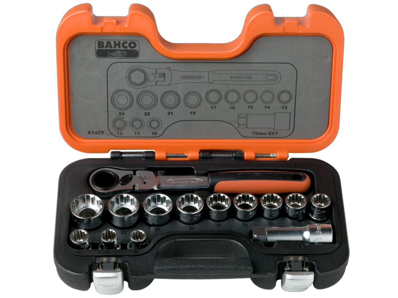 Bahco Socket Set Pass Through 14 Piece S140T