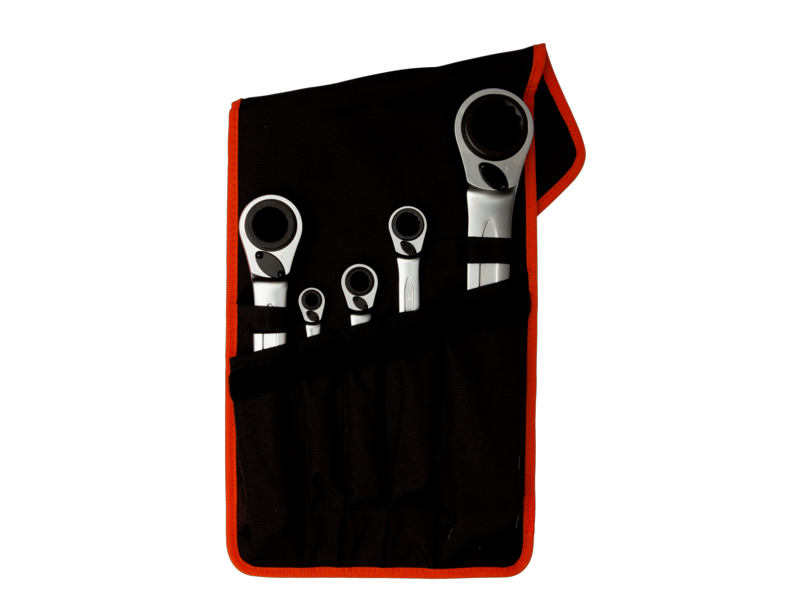Bahco Ratchet Reversible Set 5 Piece Metric S4RM/5T