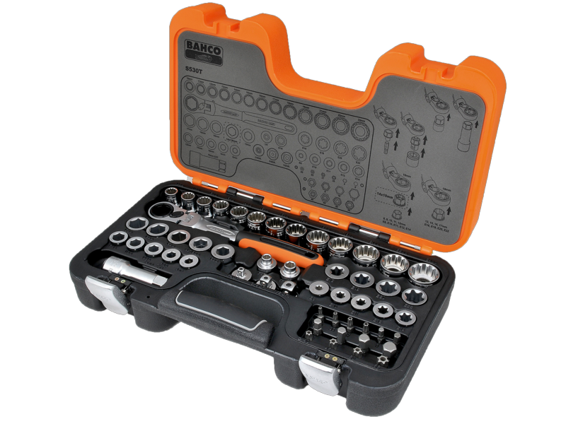 Bahco Socket Set Pass Through 53 Piece S530T