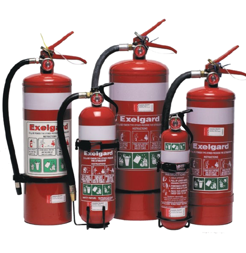 Exelgard Dry Chemical Fire Extinguisher Range