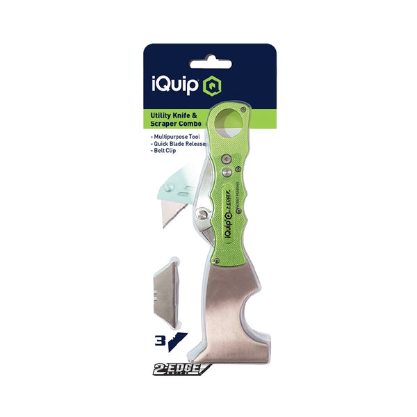 iQuip 2-Edge Putty Knife and Utility Knife Combo
