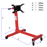 Dimensions - Red Label Engine Stand 450kg Rated Economy Red Label RLES450