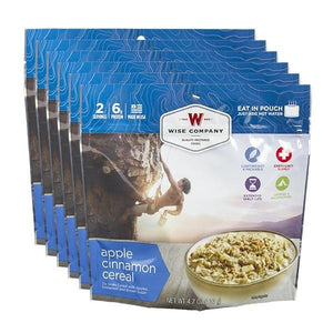 Outdoor Apple Cinnamon Cereal - 6 PACK - Survival Equipment - Survival Gear - Prepping - Prepper - Emergency Preparedness