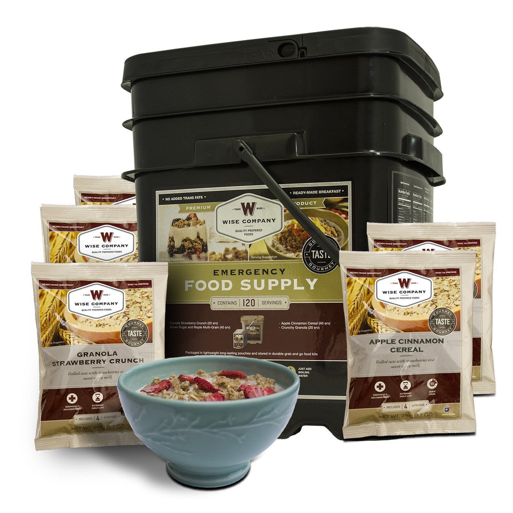 FREE SHIPPING - 120 Serving Breakfast Only Grab & Go Bucket