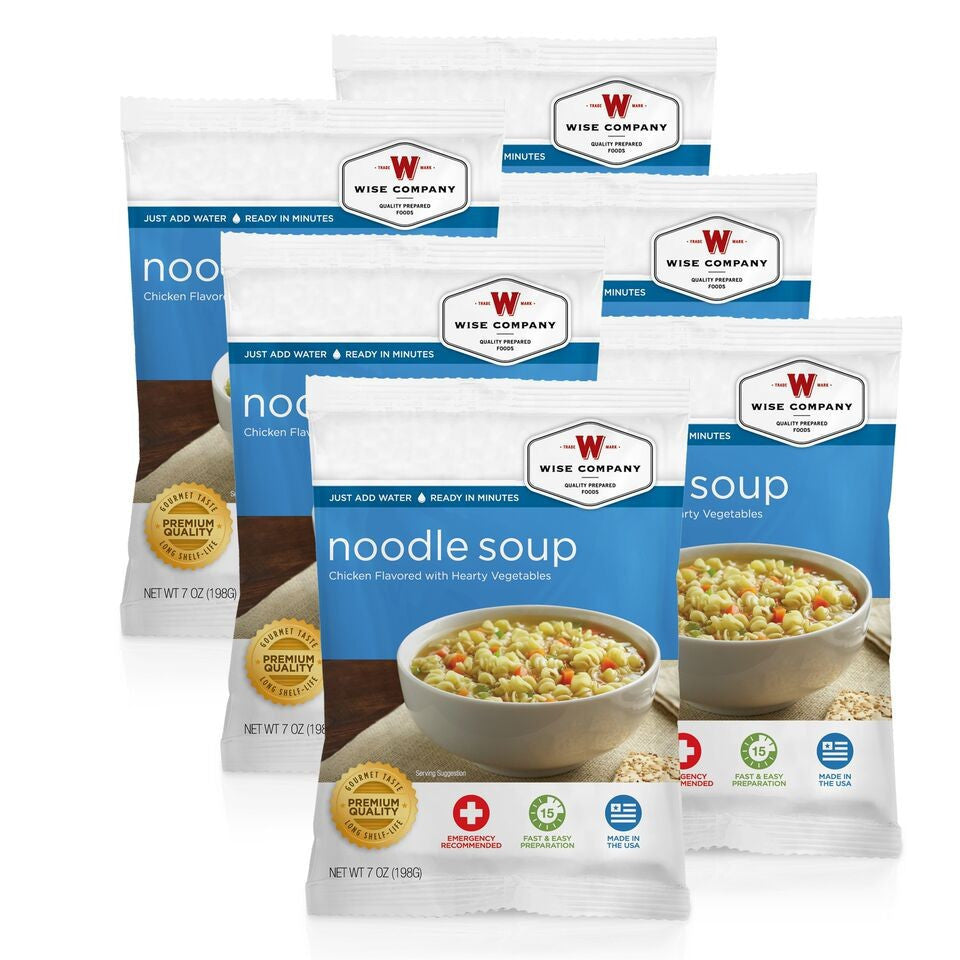 Chicken Noodle Soup Cook in the Pouch - 6 PACK - Survival Equipment - Survival Gear - Prepping - Prepper - Emergency Preparedness