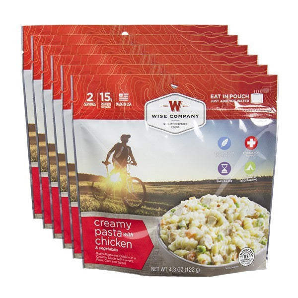 Creamy Chicken Pasta Cook in the Pouch - 6 PACK - Survival Equipment - Survival Gear - Prepping - Prepper - Emergency Preparedness