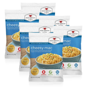 Cheesy Macaroni Cook in the Pouch - 6 PACK - Survival Equipment - Survival Gear - Prepping - Prepper - Emergency Preparedness
