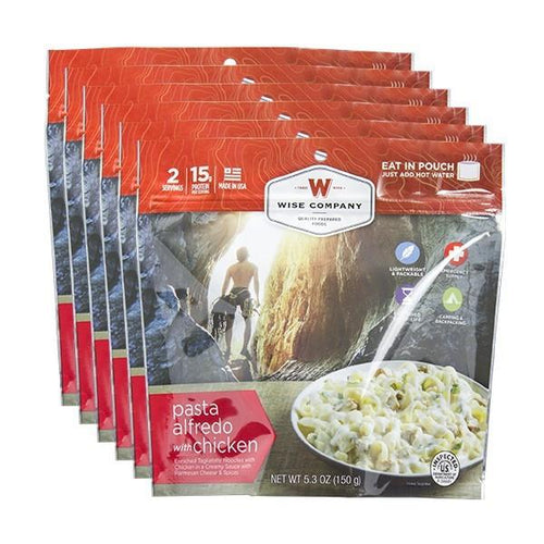 Pasta Alfredo Cook in the Pouch - 6 PACK - Survival Equipment - Survival Gear - Prepping - Prepper - Emergency Preparedness