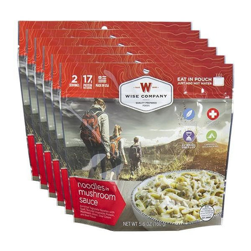 Stroganoff Cook in the Pouch - 6 PACK - Survival Equipment - Survival Gear - Prepping - Prepper - Emergency Preparedness