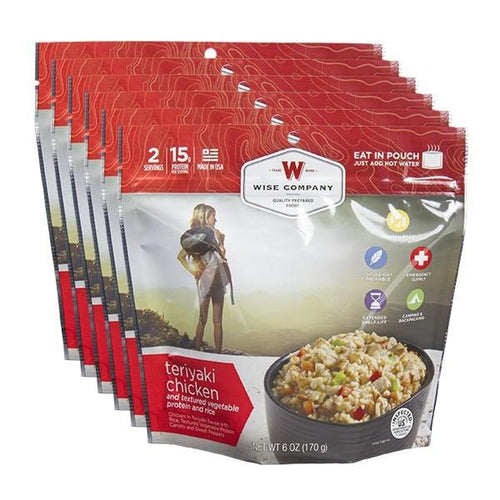 Teriyaki & Rice Cook in the Pouch - 6 PACK - Survival Equipment - Survival Gear - Prepping - Prepper - Emergency Preparedness