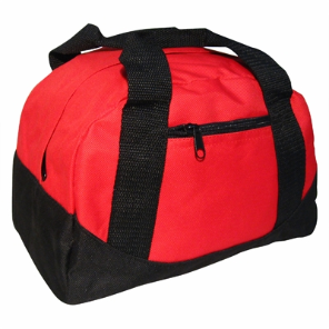 Red/Black 2-Pocket Mini Duffle Bag 12'' x 8'' x 8''