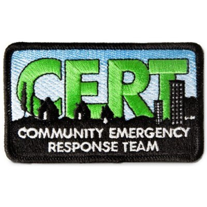 C.E.R.T. Embroidered Arm Patch 3.5'' x 2''