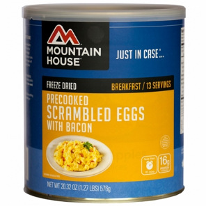 Mountain House #10 Can Scrambled Eggs w/ Bacon