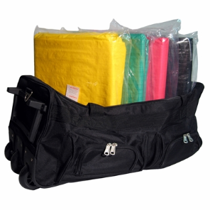 Heavy Duty Triage Tarps 4-Set w/ Rolling Bag