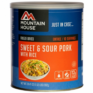 Mountain House #10 Can Sweet & Sour Pork w/ Rice