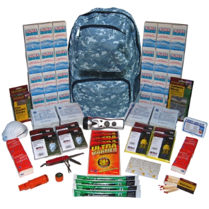 4-Person ''Grab-'N-Go'' Camo Backpack Emergency Kit