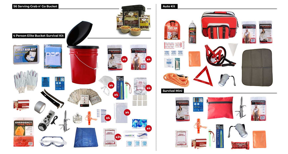All In One Family Preparedness Package w/ Food Storage
