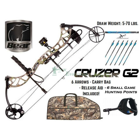 Bear Cruzer G2 Compound Bow Ultimate Hunting Package