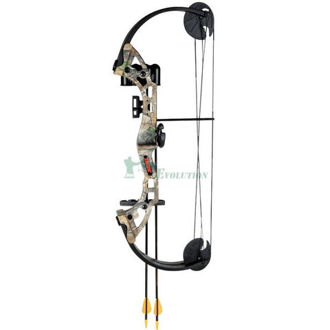 Bear Warrior 3 Compound Bow Ready To Shoot Set Side View