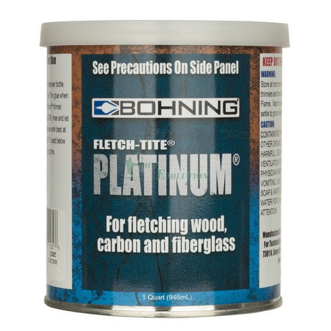 Bohning Fletch-Tite Platinum Fletching Nock and Vane Cement 0.95l or 1qrt