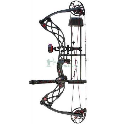 Bowtech Carbon Icon DLX Compound Bow Ready To Hunt Set Black Side