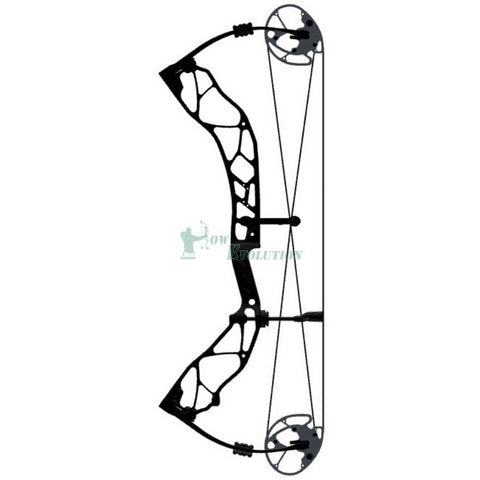 Elite Option 7 Compound Bow Side View Black
