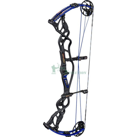 Hoyt Carbon Defiant Target Compound Bow Angled View Black/Blue