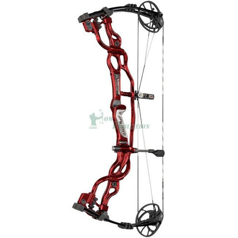 Hoyt Carbon Spyder FX Target Compound Bow Side View Red