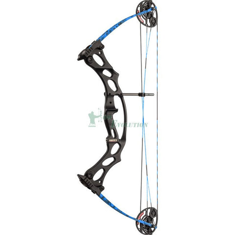 Hoyt Fireshot Target Compound Bow Side View Blue