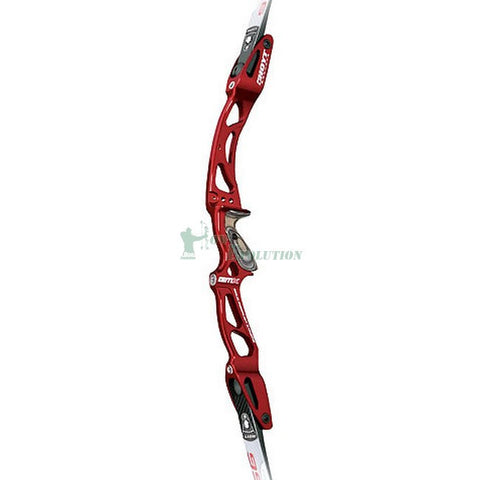 Hoyt Grand Prix GMX Recurve Riser Side View Championship Red