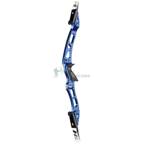 Hoyt Grand Prix Horizon Pro Recurve Riser Side View Cobalt Blue