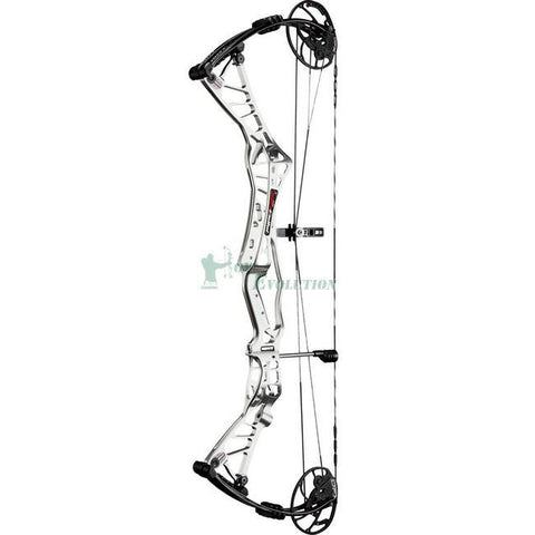 Hoyt Hyper Edge Target Compound Bow Side View Silver Ice