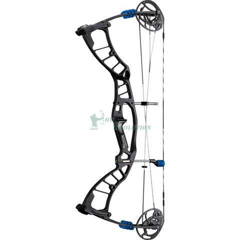Hoyt Powermax Target Compound Bow Side View Black/Blue