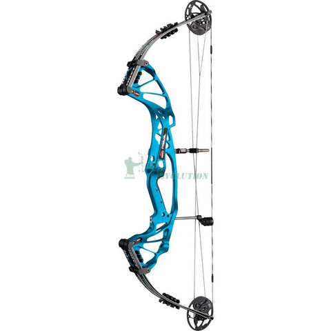 Hoyt Prevail FX Target Compound Bow Side View Electric Teal