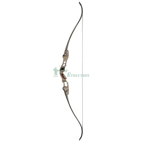 Hoyt Satori With Satori Traditional Carbon X-Tour Limbs Takedown Recurve Bow side Buckskin