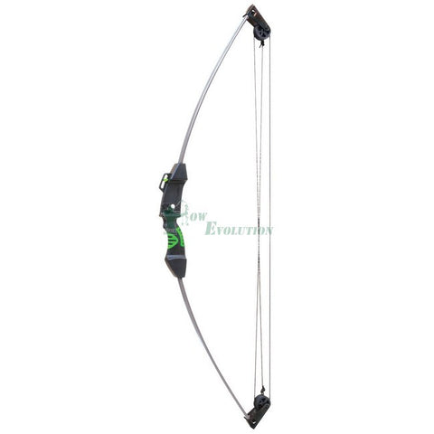 Martin Hedgehog Compound Bow Ready To Shoot Set Side View Black