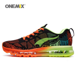 Onemix men's sport running shoes music rhythm men's sneakers breathable mesh outdoor athletic shoe light male shoe size EU 39-46 - Yakir China Store