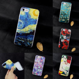 Soft Silicone Van Gogh Star Picasso Cover fundas Case For Apple iPhone se 4 4s 5 5s 5c 6 6s 7 plus coque TPU print Crystal Soft - Yakir China Store