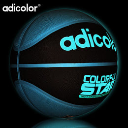 7# Luminous Street Rubber Basketball Ball Night Game Train PU Rubber