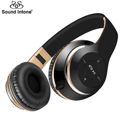 Sound Intone BT-09 Bluetooth Headphones Wireless Stereo Headsets earbuds with Mic Support TF Card FM Radio for iPhone Samsung - Yakir China Store
