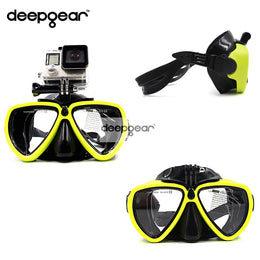 DEEPGEAR  Top snorkel mask  Gopro  silicone diving mask